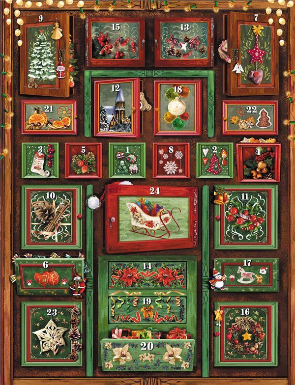 Calendrier de l'avent l'armoire de Noël ; evangelisti