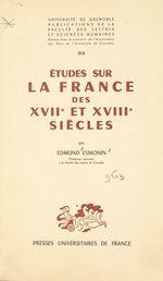 Études sur la France des XVIIe et XVIIIe siècles