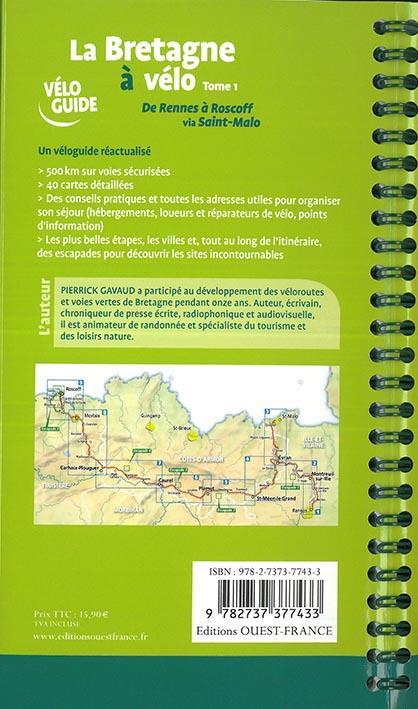 La Bretagne à vélo t.1 ; de Rennes à Roscoff