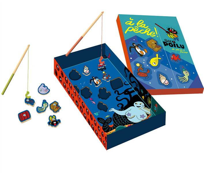Petit Poilu ; à la pêche ! puzzle en bois pêche magnétique