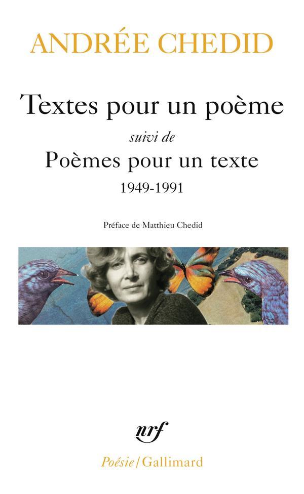 Textes pour un poème / poèmes pour un texte