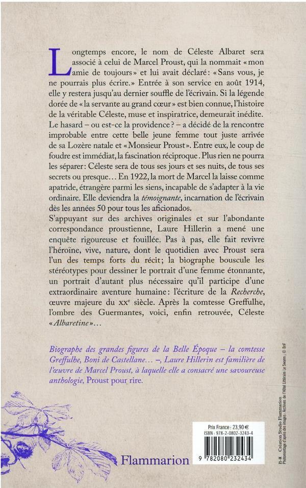 à la recherche de Céleste Albaret : une enquête inédite sur la captive de Marcel Proust