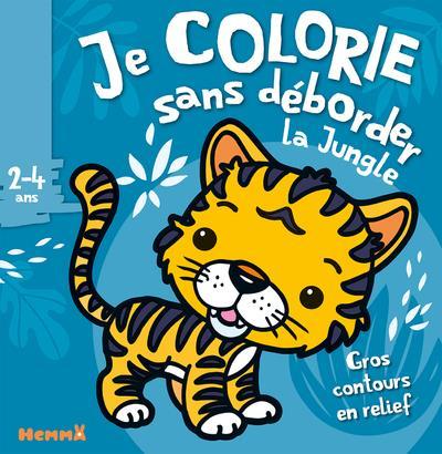 Je colorie sans déborder T.38 ; la jungle ; 2/4 ans