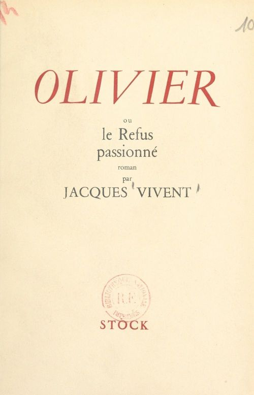 Olivier  - Jacques Vivent