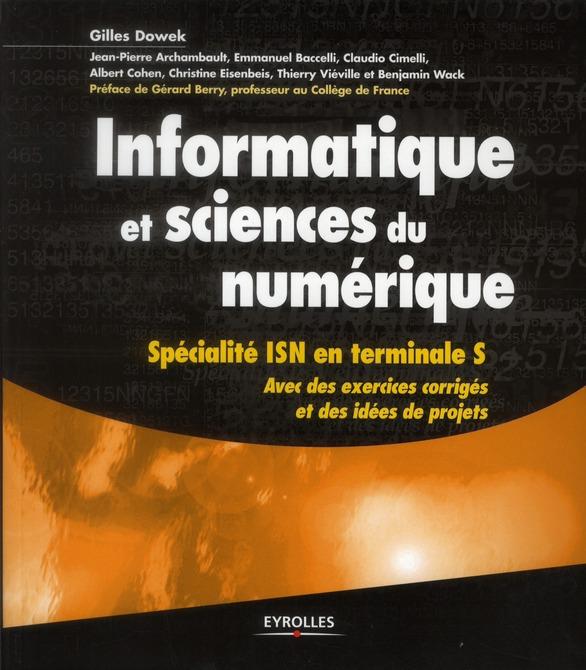 Informatique et sciences du numérique ; spécialité ISN en terminales