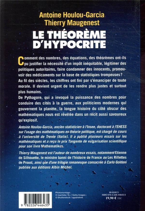 le theoreme d'Hypocrite ; une histoire de la manipulation par les chiffres de Pythagore à Macron