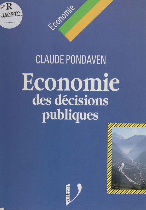 Économie des décisions publiques
