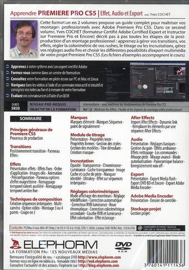 Apprendre Adobe premiere pro CS5 ; effets, audio, export ; formation vidéo en 5h30 t.2
