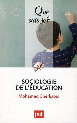 Sociologie de l'éducation (8e édition)