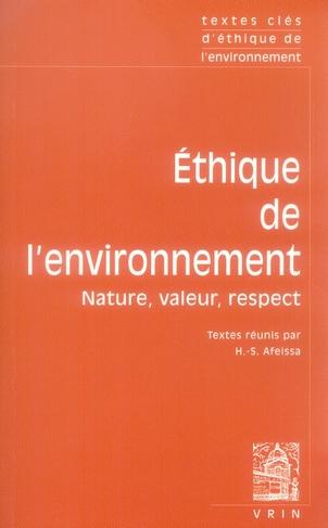 éthique de l'environnement : nature, valeur, respect