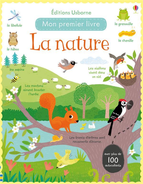 la nature ; mon premier livre avec autocollants