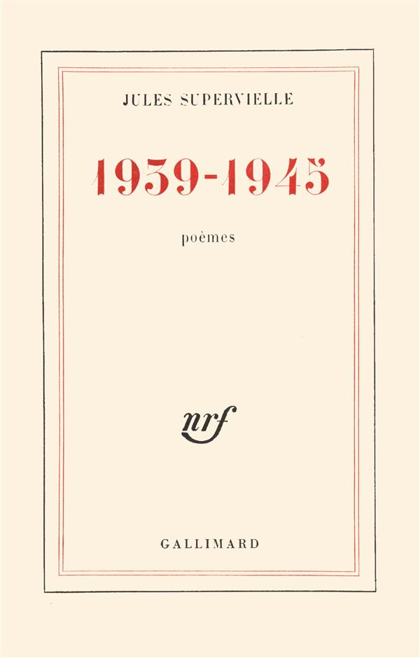 1939-1945, poemes