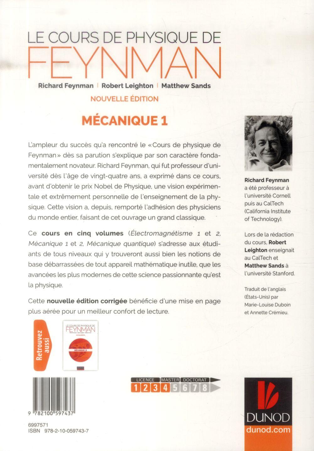 Le cours de physique de Feynman ; mécanique t.1