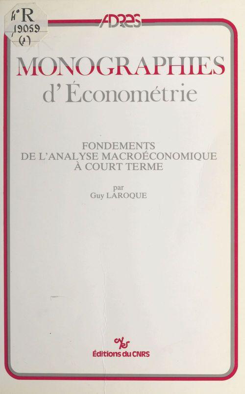 Fondements de l'analyse macroeconomique a court terme
