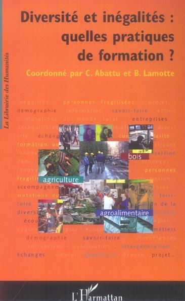 Diversite Et Inegalites : Quelles Pratiques De Formation ?