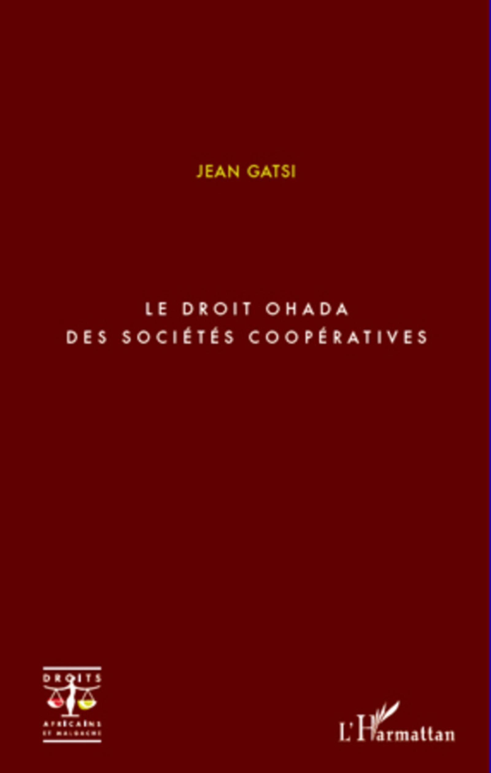 Le droit OHADA des sociétés coopératives
