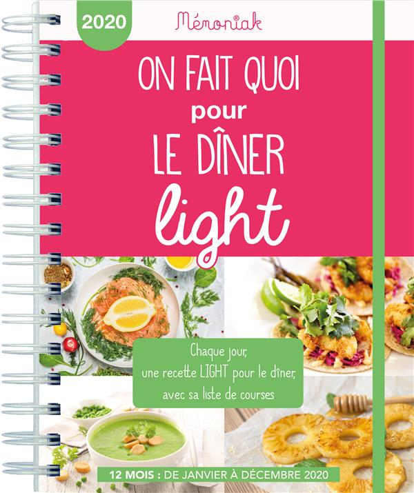 Mémoniak ; agenda ; on fait quoi pour le dîner light ? (édition 2020)