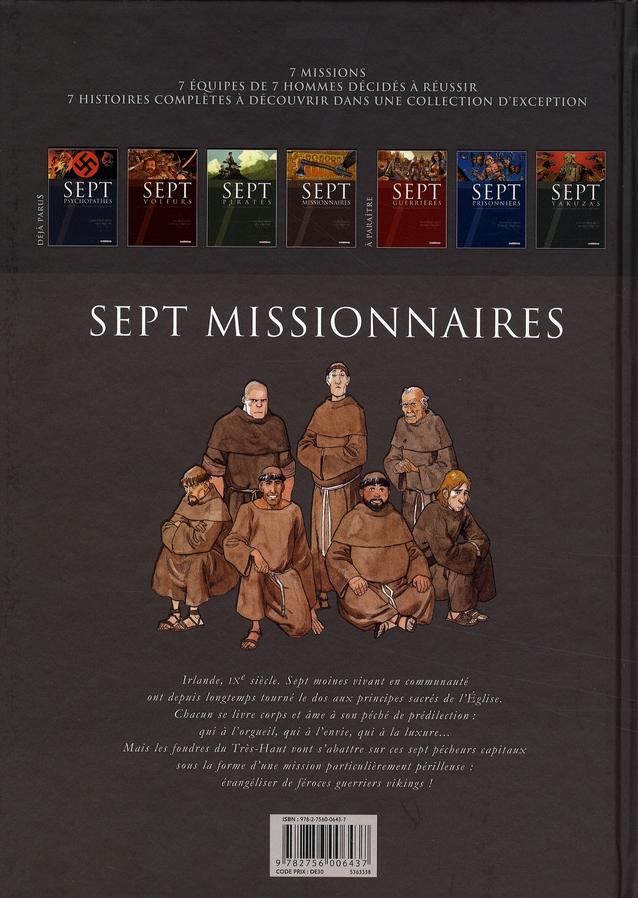 sept missionnaires ; sept moines partent évangéliser de féroces vikings