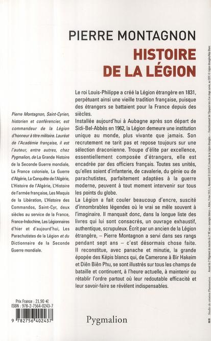 histoire de la légion ; de 1831 à nos jours