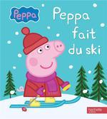 Couverture de Peppa pig ; peppa fait du ski