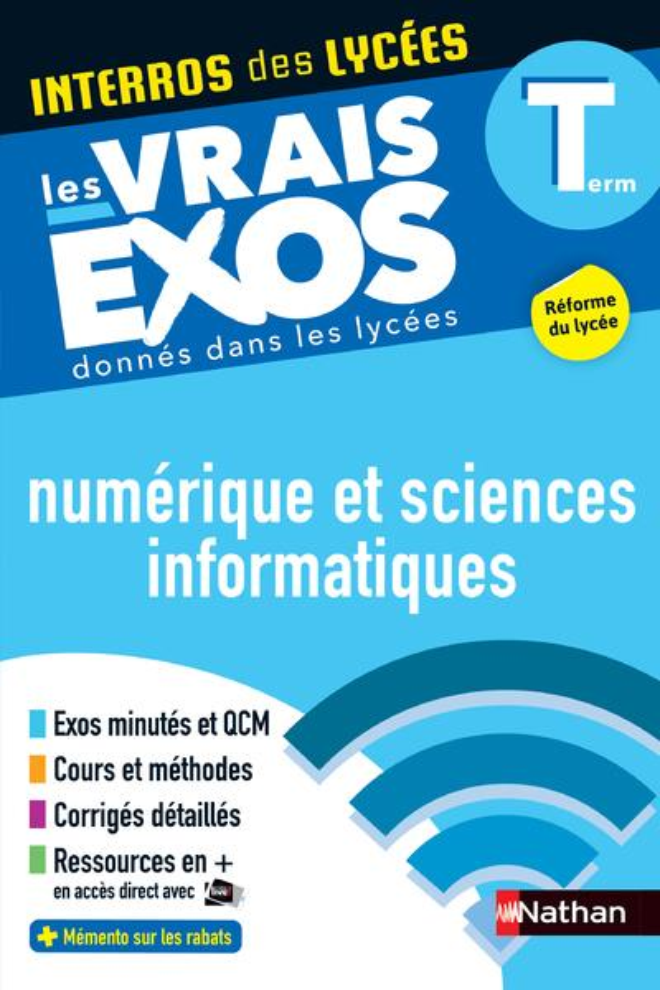 Interros des lycées T.31 ; numérique et sciences informatiques ; terminale (édition 2020)