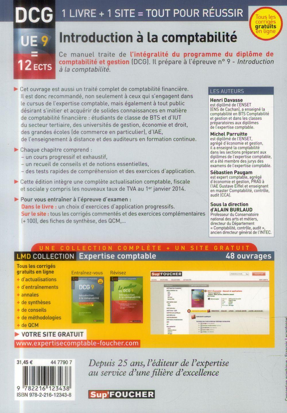 DCG 9 ; introduction à la comptabilité ; comptabilité financière ; manuel (7e édition)