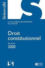 Vente Livre Numérique : Droit constitutionnel 2020 - 38e éd.  - Pierre Pactet - Ferdinand Mélin-Soucramanien