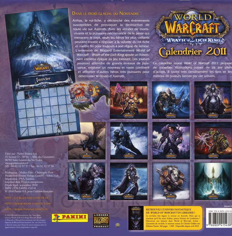 World of Warcraft t.2011 ; calendrier