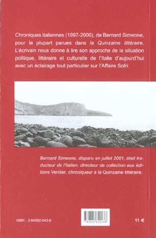 le spectre de machiavel ; chroniques italiennes 1997-2000