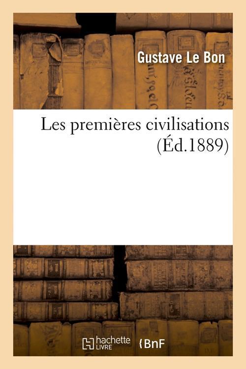 Les premieres civilisations (ed.1889)