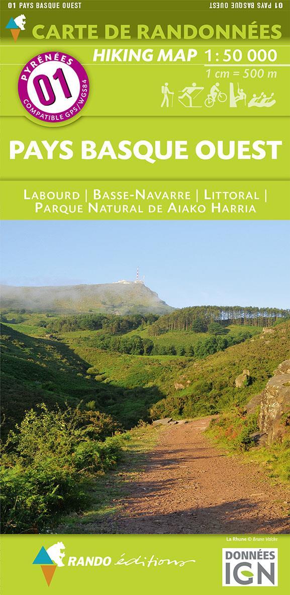 Pays Basque Ouest : 1/50 000 : cartes de randonnées