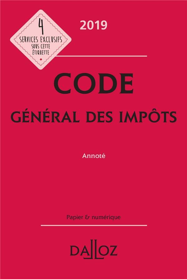 Code général des impots annoté (édition 2019) (28e édition)