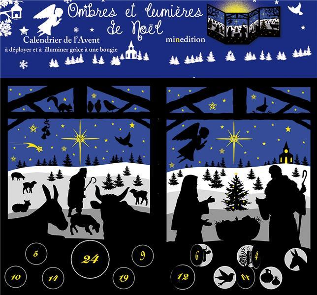 Calendrier de l'avent ; ombres et lumière de Noël ; evangelisti