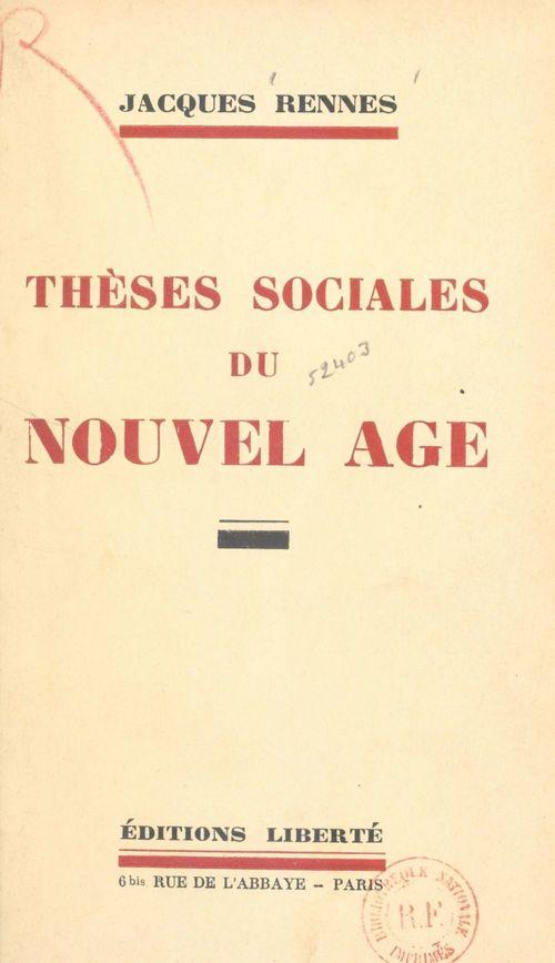 Thèses sociales du nouvel âge
