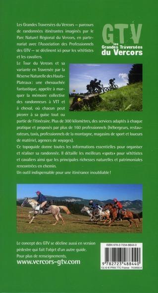 GTV à VTT et à cheval ; les grandes traversées du Vercors