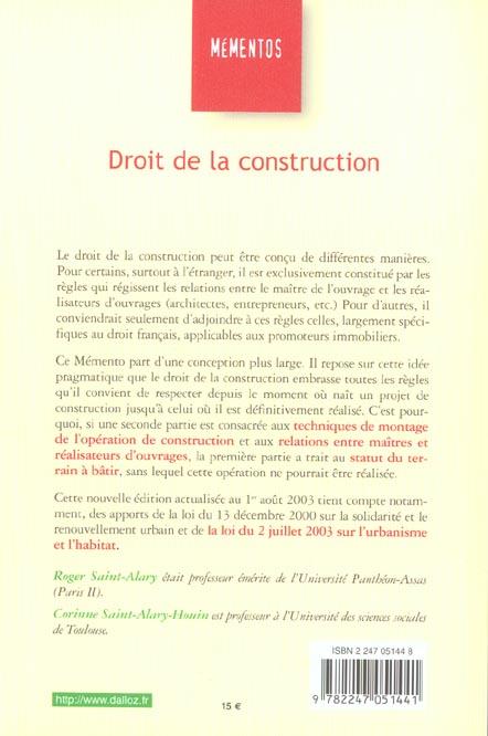 Droit de la construction (7e édition)