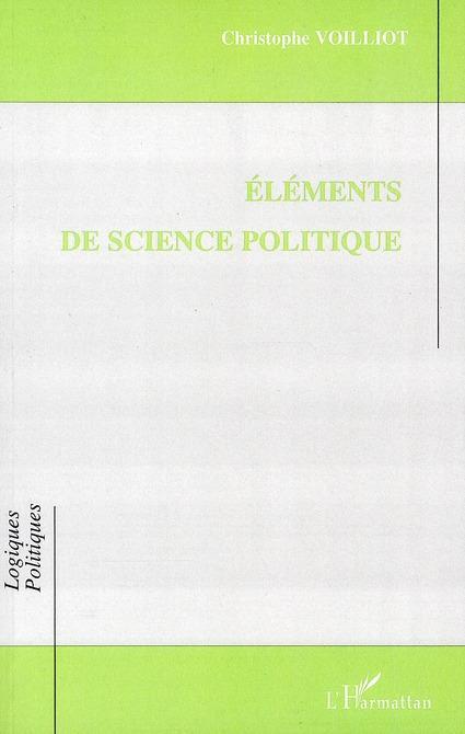 Eléments de science politique