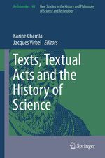Texts, Textual Acts and the History of Science  - Karine Chemla - Jacques Virbel