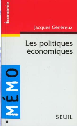 Memento Des Politiques Economiques
