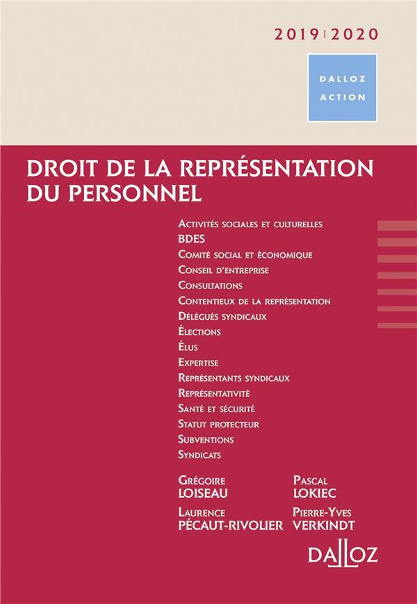 Droit de la représentation du personnel (édition 2019/2020)