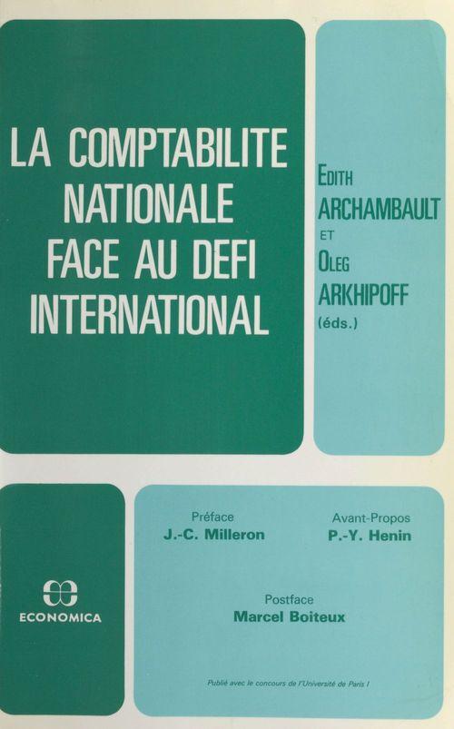 La comptabilite nationale face au defi international