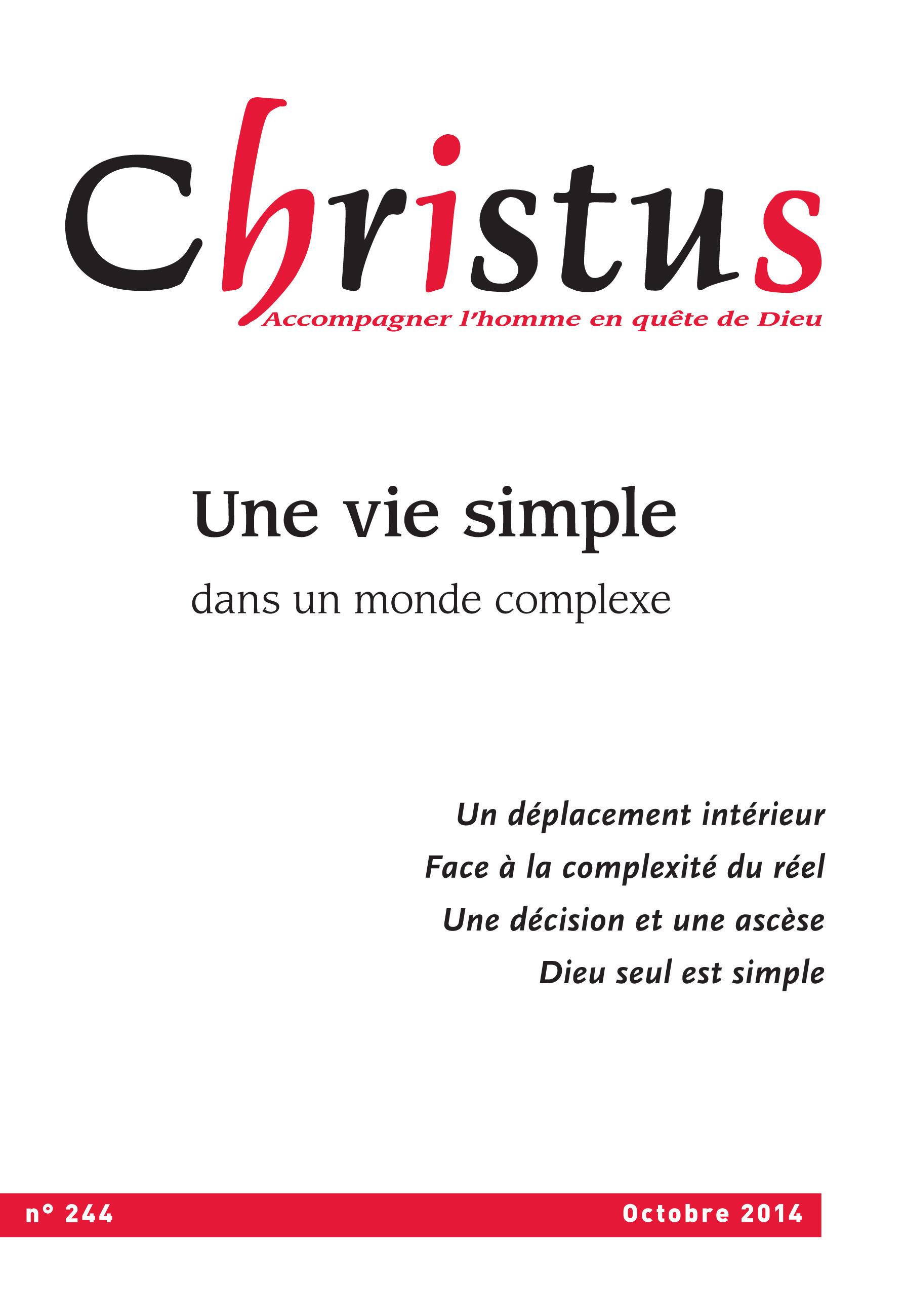 Christus Octobre 2014 - N°244