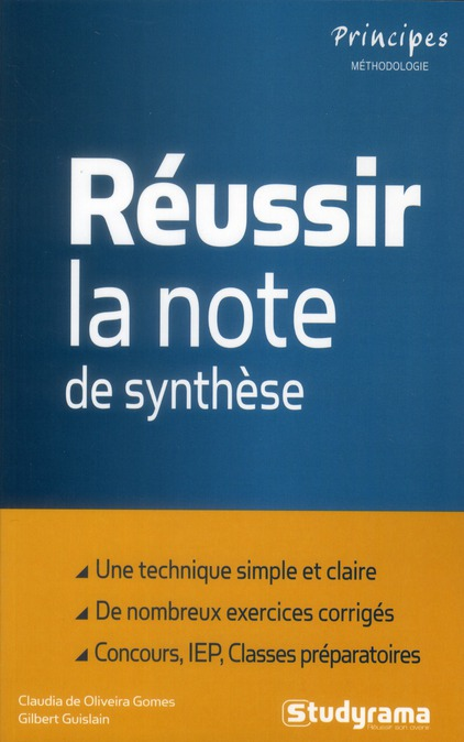 Reussir La Note De Synthese (4e Edition)