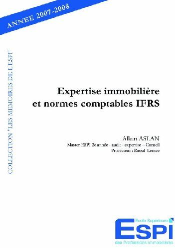 Expertise Immobiliere Et Normes Comptables Ifrs