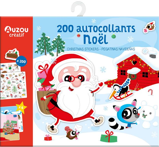 Ma pochette de gommettes ; 200 autocollants Noël