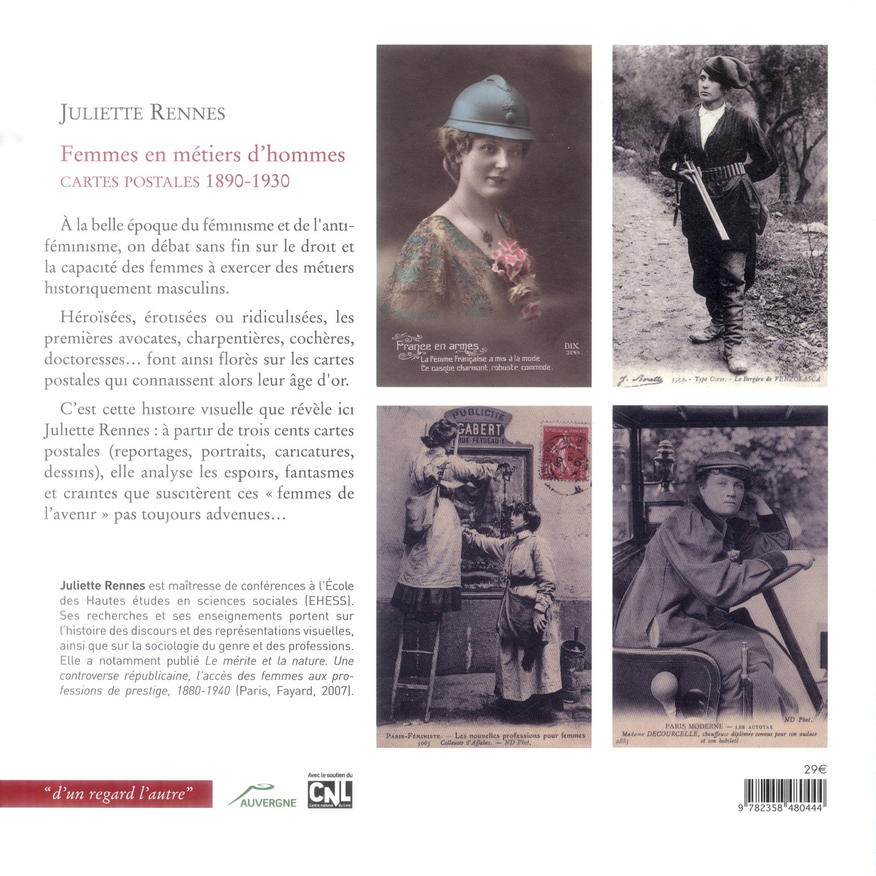 Femmes en métiers d'hommes ; cartes postales (1890-1920)