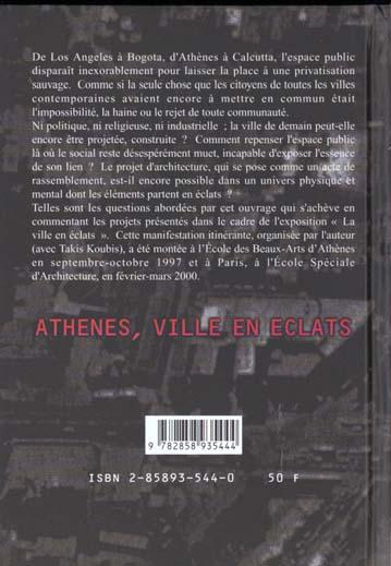 Les villes de la puissance ; Athènes ville en éclats