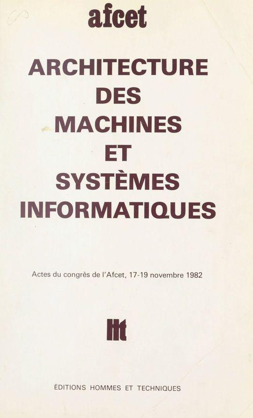 Architecture des machines et systèmes informatiques