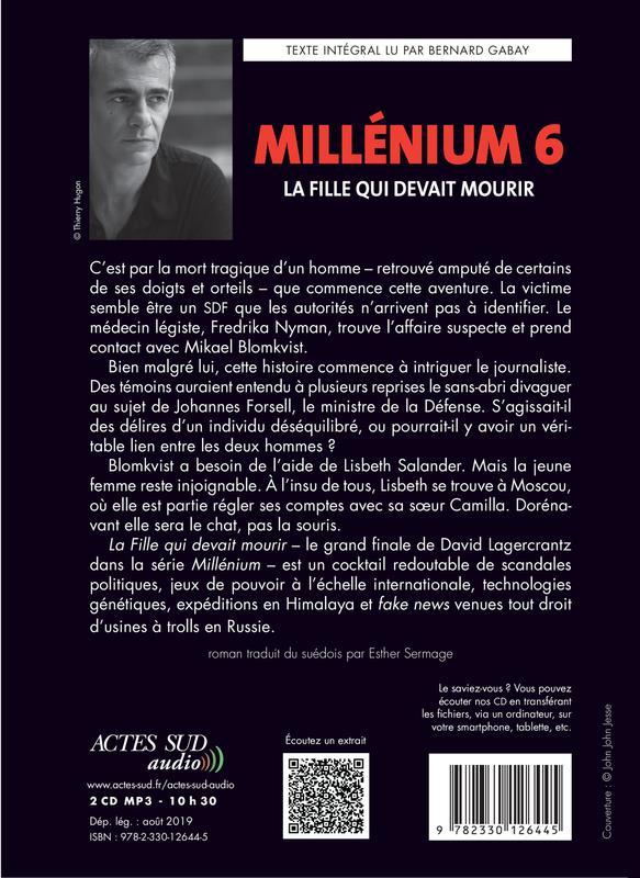 Millénium T.6 ; la fille qui devait mourir