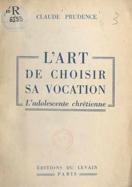 L'art de choisir sa vocation